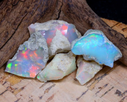 Welo Rough 41.12Ct Natural Ethiopian Play Of Color Rough Opal F1501