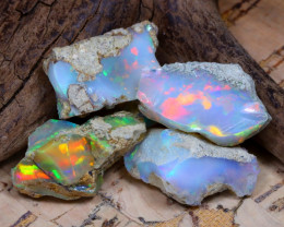 Welo Rough 37.86Ct Natural Ethiopian Play Of Color Rough Opal F1505
