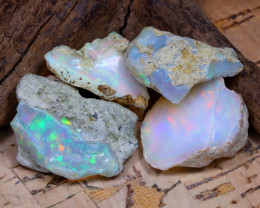 Welo Rough 36.02Ct Natural Ethiopian Play Of Color Rough Opal D1503