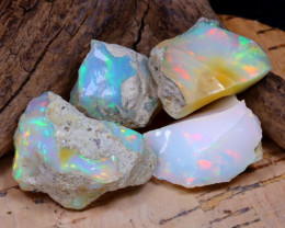 Welo Rough 45.66Ct Natural Ethiopian Play Of Color Rough Opal D1504