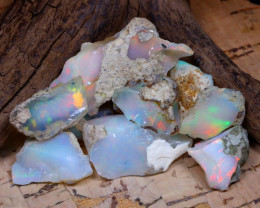 Welo Rough 41.72Ct Natural Ethiopian Play Of Color Rough Opal D1505