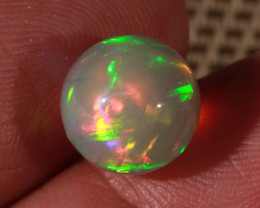 5.80CT~BRILLIANT 5/5 DARK BASE WELO OPAL SPHERE~FULL SATURATION OF FIRE!!!