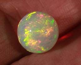 6.45CT~STUNNING ETHIOPIAN WELO OPAL SPHERE~INSANE FULL SATURATION OF FIRE!