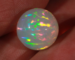 7.98CT~STUNNING ETHIOPIAN WELO OPAL SPHERE~INSANE FULL SATURATION OF FIRE!