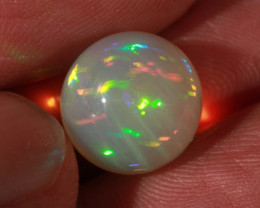 8.5CT~STUNNING ETHIOPIAN WELO OPAL SPHERE~INSANE FULL SATURATION OF FIRE!