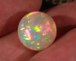 9.95CT~STUNNING ETHIOPIAN WELO OPAL SPHERE~INSANE FULL SATURATION OF FIRE!