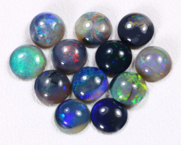 Calibrate 4.6mm 2.71Cts Lightning Ridge Black Opal Parcel Lot ES0182