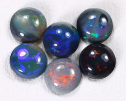 Calibrate 5.2mm 2.14Cts Lightning Ridge Black Opal Parcel Lot ES0186