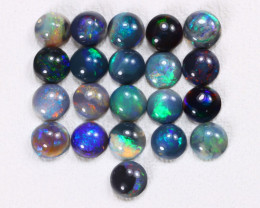 Calibrate 3.4mm 2.10Cts Lightning Ridge Black Opal Parcel Lot ES0196