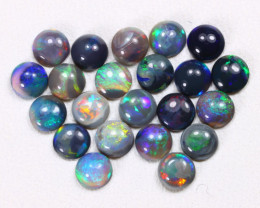 Calibrate 3.8mm 2.75Cts Lightning Ridge Black Opal Parcel Lot ES0214