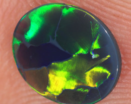 0.72ct 9x7.5mm Solid Lightning Ridge Black Opal [LO-2633]