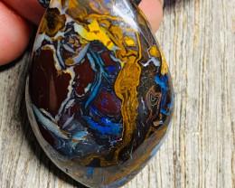 68 cts Australian  Koriot Boulder Opal Pendant   NA 620