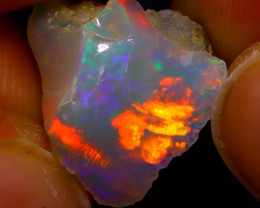 Welo Opal 5.56Ct Natural Ethiopian Play of Color Opal J1706/R2