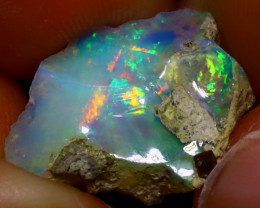 Welo Opal 7.51Ct Natural Ethiopian Play of Color Opal J1709/R2