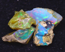 27.50Ct Multi Color Play Ethiopian Welo Opal Rough JF1712/R2