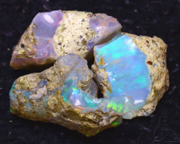 25.00Ct Multi Color Play Ethiopian Welo Opal Rough JF1718/R2