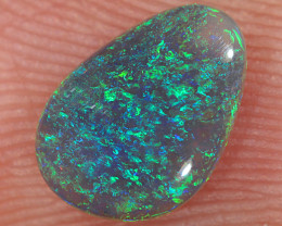 0.75ct 8.5x6mm Solid Lightning Ridge Dark Opal [LO-2667]
