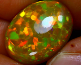 Welo Opal 13.92Ct Natural Honeycomb Ethiopian Play of Color Opal HN02/A55