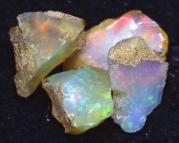24.20Ct Multi Color Play Ethiopian Welo Opal Rough  HN04/R2