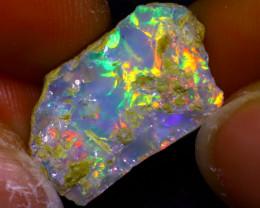 9.67Ct Multi Color Play Ethiopian Welo Opal Rough  HN06/R2