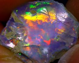 7.57Ct Multi Color Play Ethiopian Welo Opal Rough  HN10/R2