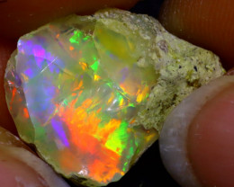 6.21Ct Multi Color Play Ethiopian Welo Opal Rough  HN14/R2