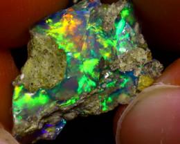 6.20Ct Multi Color Play Ethiopian Welo Opal Rough  HN21/R2