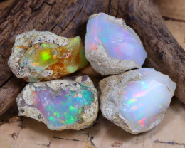 Welo Rough 42.71Ct Natural Ethiopian Play Of Color Rough Opal D1601