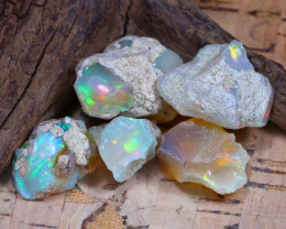 Welo Rough 39.50Ct Natural Ethiopian Play Of Color Rough Opal D1603