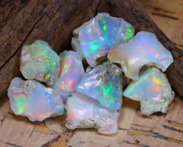 Welo Rough 32.61Ct Natural Ethiopian Play Of Color Rough Opal D1604