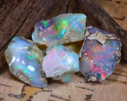 Welo Rough 43.33Ct Natural Ethiopian Play Of Color Rough Opal D1701