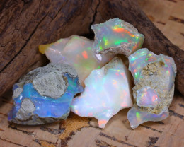 Welo Rough 40.14Ct Natural Ethiopian Play Of Color Rough Opal D1702