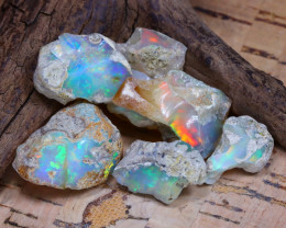 Welo Rough 38.60Ct Natural Ethiopian Play Of Color Rough Opal D1703