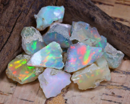 Welo Rough 36.81Ct Natural Ethiopian Play Of Color Rough Opal D1704