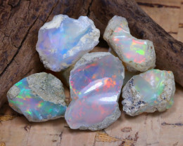 Welo Rough 35.38Ct Natural Ethiopian Play Of Color Rough Opal D1705