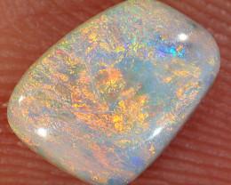 0.72ct 7.4x5.8mm Solid Lightning Ridge Dark Opal [LO-2676]