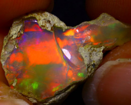 6.97Ct Multi Color Play Ethiopian Welo Opal Rough  HN26/R2