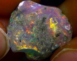 8.13Ct Multi Color Play Ethiopian Welo Opal Rough  HN28/R2