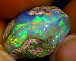 8.69Ct Multi Color Play Ethiopian Welo Opal Rough  HN33/R2