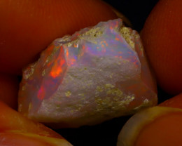 10.18Ct Multi Color Play Ethiopian Welo Opal Rough  HN43/R2