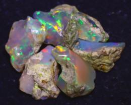 28.00Ct Multi Color Play Ethiopian Welo Opal Rough  HN45/R2