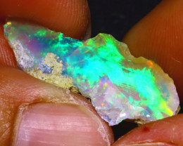 5.81Ct Multi Color Play Ethiopian Welo Opal Rough  HN46/R2