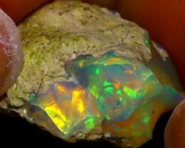 9.49Ct Multi Color Play Ethiopian Welo Opal Rough  HN49/R2