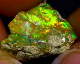 7.60Ct Multi Color Play Ethiopian Welo Opal Rough  HN50/R2