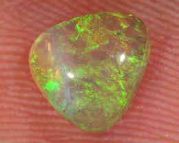 0.7ct 6.7x6.3mm Solid Lightning Ridge Crystal Opal [LO-2684]