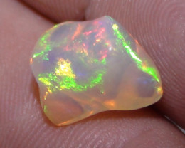 3.65 ct Ethiopian Gem Color Carved Free form Welo Opal