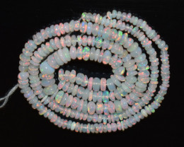 26.75 Ct Natural Ethiopian Welo Opal Beads Play Of Color OB1143