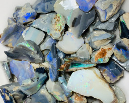300 CTS SEAM ROUGH OPALS WITH NICE COLOURS TO GAMBLE#1442