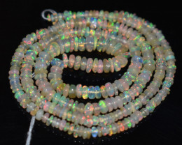 28.95 Ct Natural Ethiopian Welo Opal Beads Play Of Color OB1144