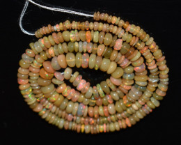 34.95 Ct Natural Ethiopian Welo Opal Beads Play Of Color OB1147